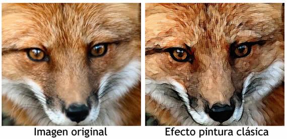 Efecto de pintura artística sobre una imagen