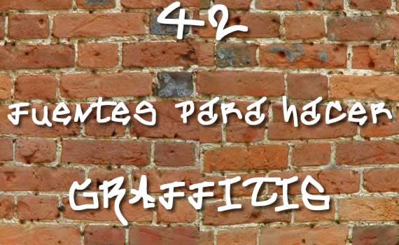 42 fuentes gratuitas para crear grafitis