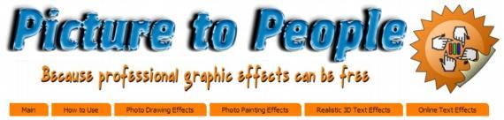 Picture to people impresionante generador de efectos for Edicion 3d online