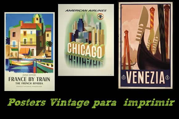 Posters Vintage Listos Para Descargar E Imprimir Recursos Gratis
