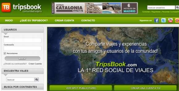 Tripsbook. Red social de viajeros de todo el mundo