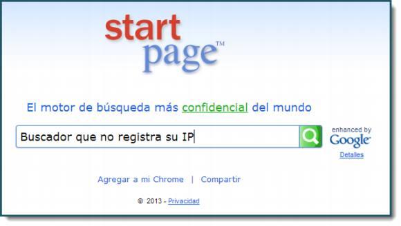 Startpage. Buscador potenciado por Google que cuida tus datos personales