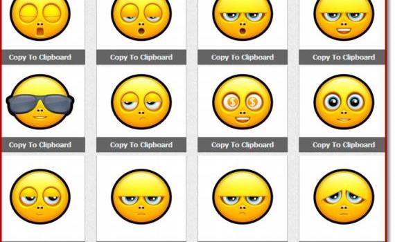 Emoticones y smileys estáticos y animados