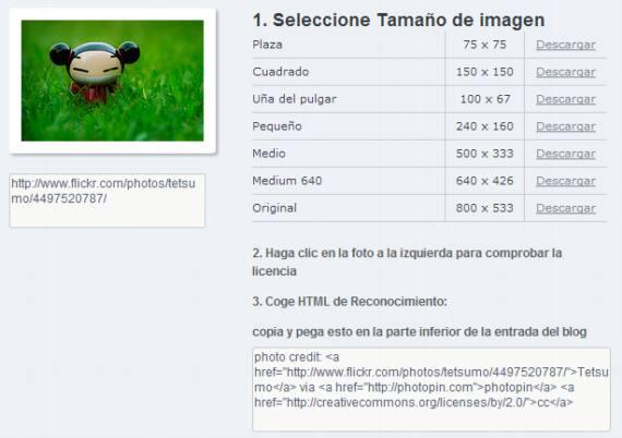 Buscador de millones de imágenes en Flickr