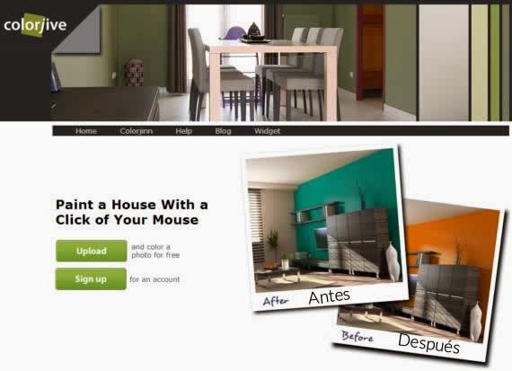 Empieza a pintar tu casa online con este simulador - Simulador pintar habitacion ...