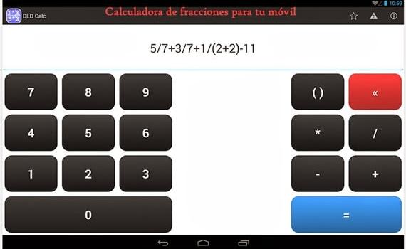 Impresionante calculadora de fracciones gratuita para tu móvil