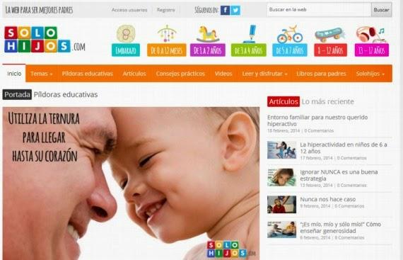 Solohijos, portal para ser mejores padres