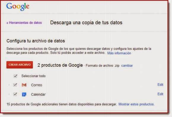 Cómo hacer una copia de seguridad de tu correo de Gmail y otros productos de Google