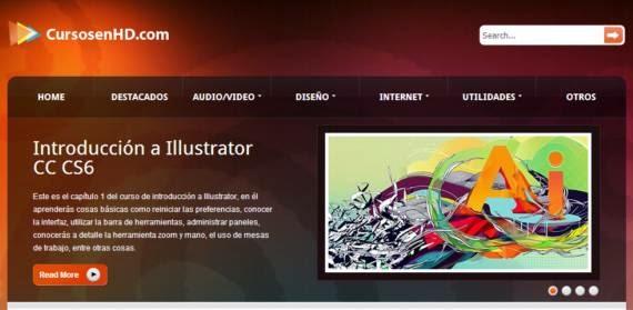 Video cursos gratuitos de diseño, Internet y audio/video
