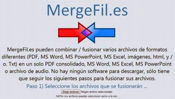 Combina archivos de diversos formatos en un solo documento