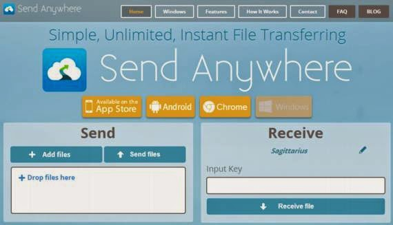Enviar y compartir archivos fácilmente y gratis