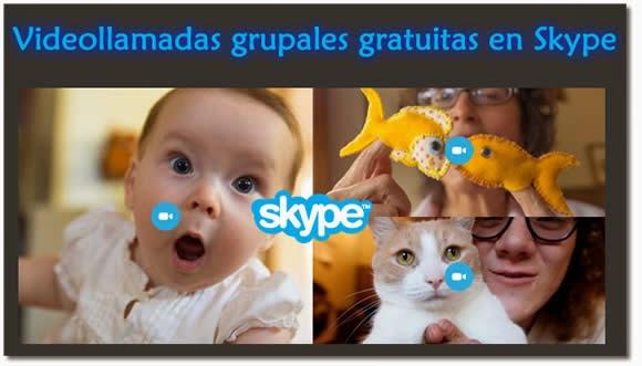 Videollamadas grupales gratis en Skype