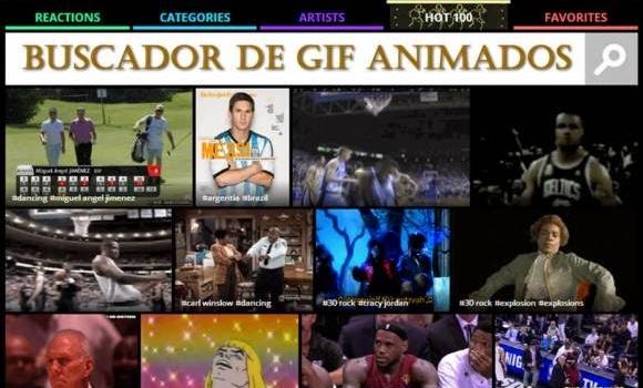 Buscador de GIFs animados para compartir en las redes sociales