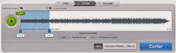Aplicación para cortar archivos audio