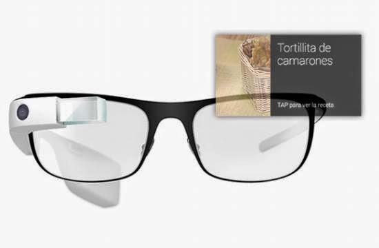 Aplicación de recetas para Google Glass