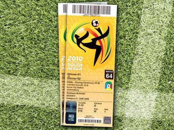 Los boletos de los mundiales de fútbol desde 1930 a 2010