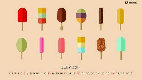 Fondos de escritorio con o sin el calendario de julio de 2014