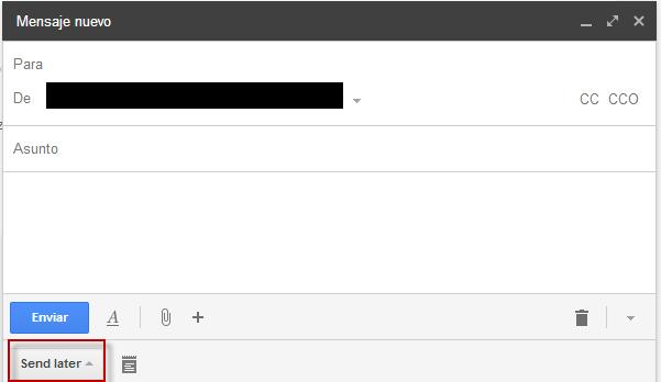 Programar envíos en Gmail