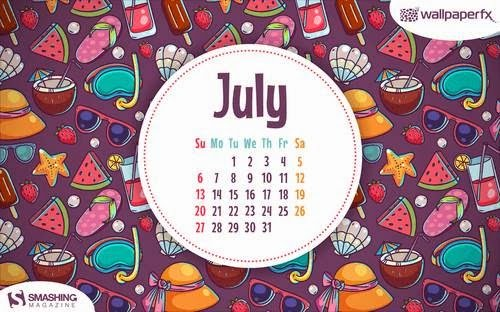Wallpapers con o sin el calendario de julio de 2014