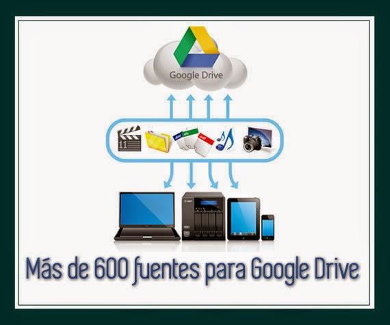 Más de 600 nuevas fuentes tipográficas para Google Drive