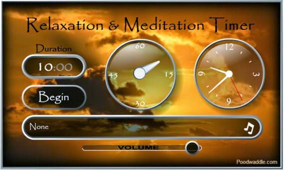 Temporizador para sesiones de relajación y meditación