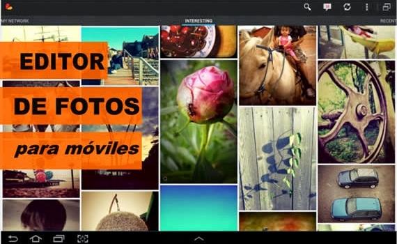 Completo editor fotográfico para móviles