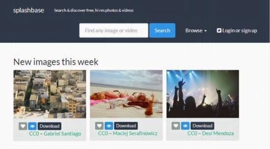 Splashbase. Imágenes gratuitas para descargar