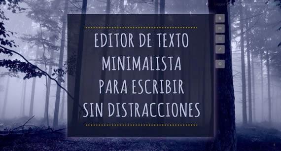 Editor de textos minimalista para escribir on-line, sin distracciones