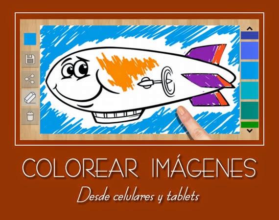 Aplicación para colorear imágenes desde celulares y tablets
