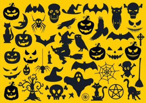 Formas en formato vectorial para Halloween