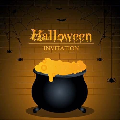 Invitación para celebrar Halloween