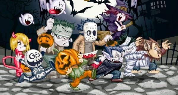 100 elementos de diseño sobre Halloween