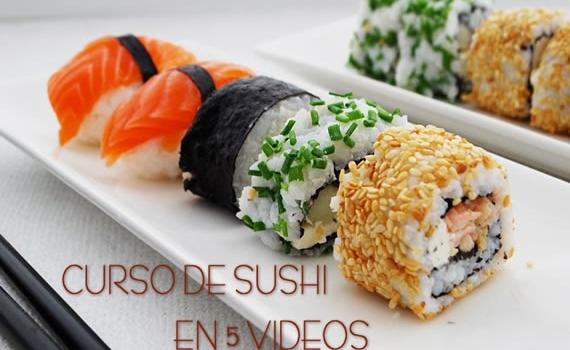Curso de sushi en 5 clases en video