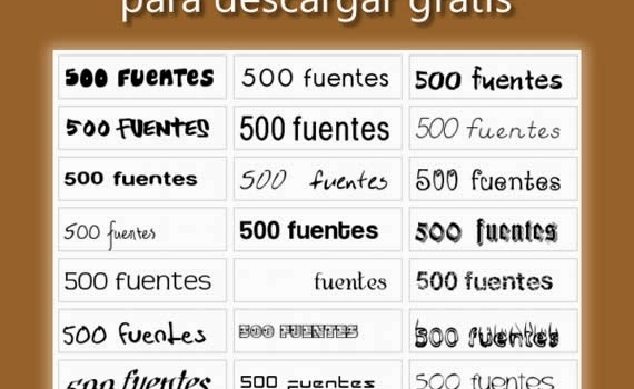 500 fuentes tipográficas top para descargar gratis