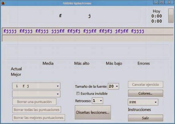Aprende dactilografía con Addictive Typing