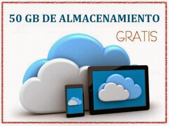 50 Gb de almacenamiento gratuito para todos tus archivos