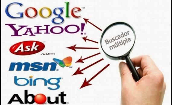 Aplicación para buscar en varios motores de búsqueda simultáneamente