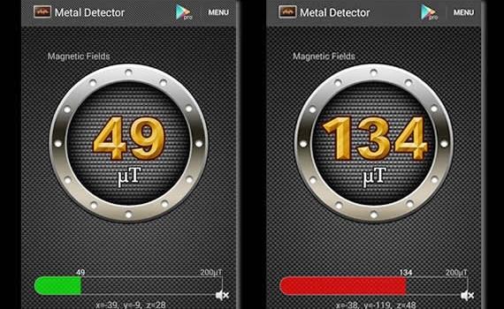 Detector de metales y medidor de distancias. 2 Apps para tu teléfono móvil