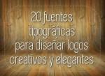 Crea tus logos usando estas 20 fuentes especiales