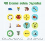 40 iconos de deportes, adaptables, en varios formatos, estilos y tamaños