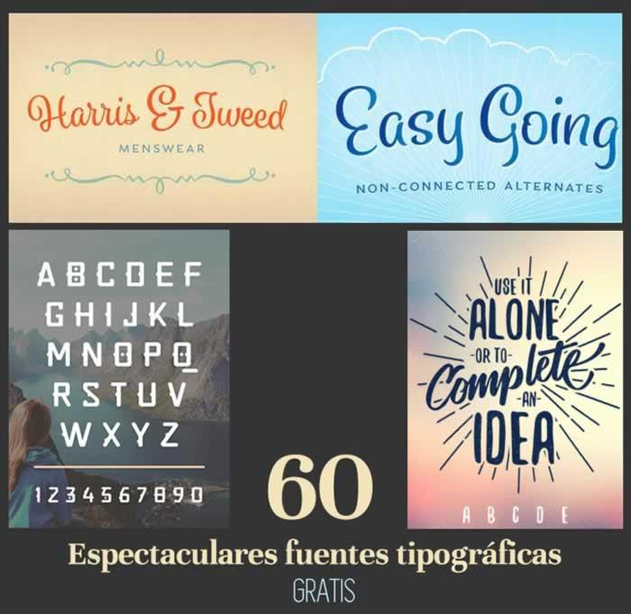 60 espectaculares fuentes tipográficas para descargar gratuitamente