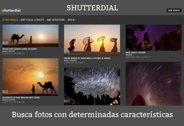 Shuterdial. Busca fotos con determinadas características