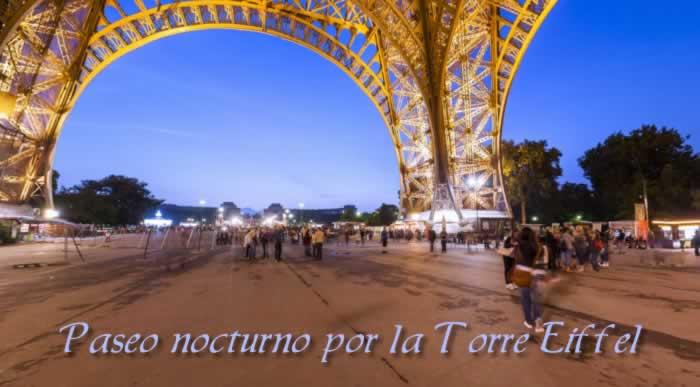 Un paseo nocturno por la Torre Eiffel