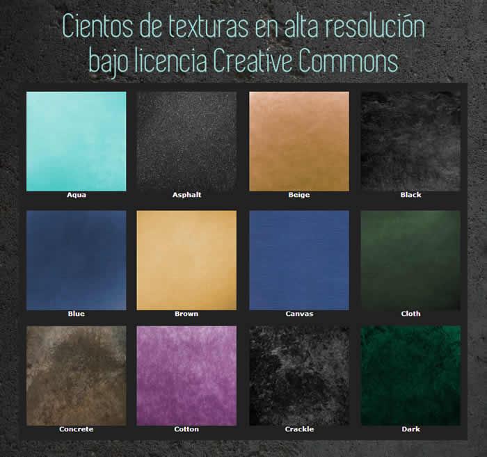 Cientos de texturas en alta resolución bajo licencia Creative Commons
