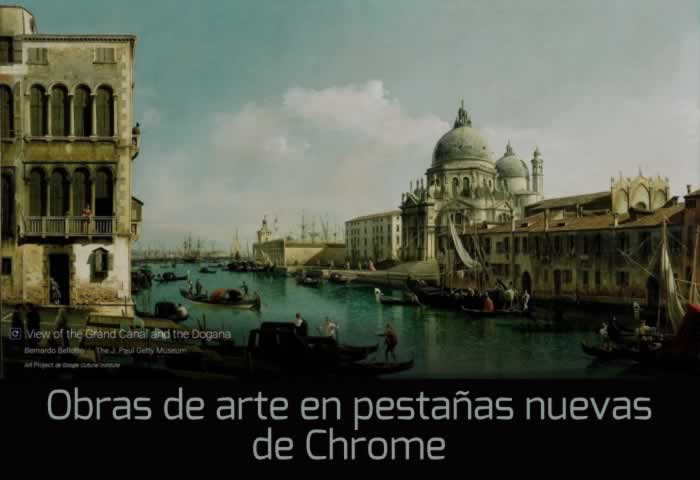Una obra de arte en cada pestaña nueva de Chrome