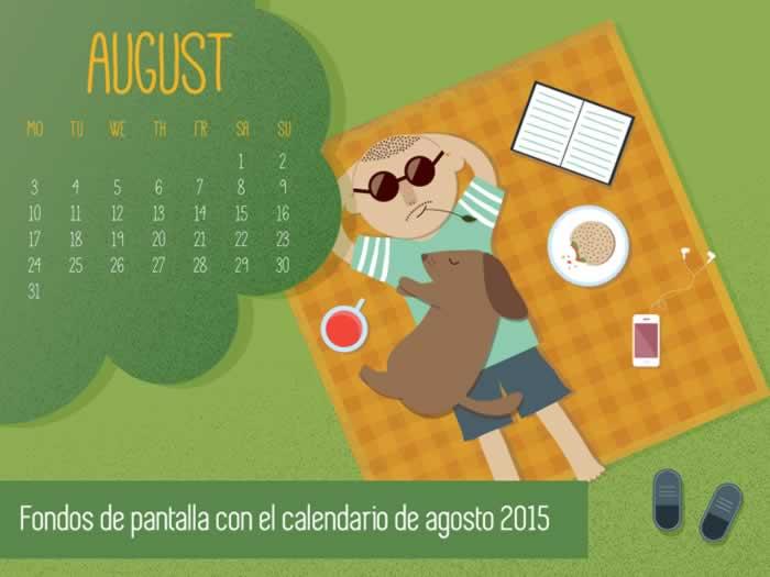 Fondos de pantalla con o sin el calendario del mes de agosto de 2015
