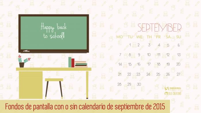 Fondos de pantalla con o sin el calendario del mes de septiembre de 2015