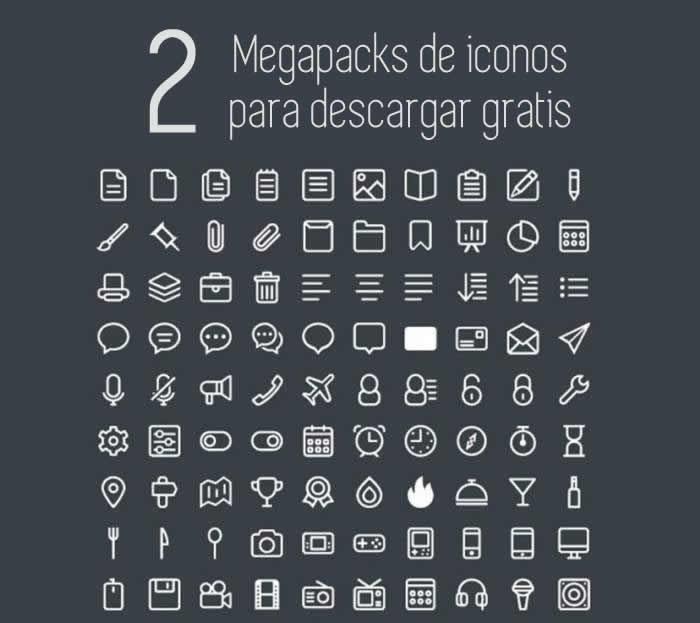 2 Packs de iconos en formato vectorial para descargar gratis