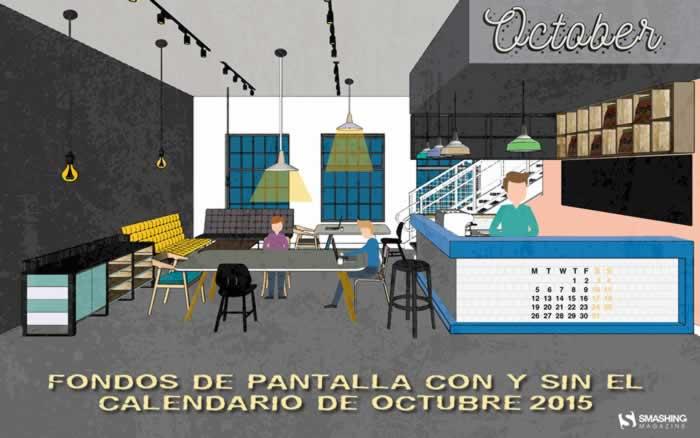 Fondos de pantalla con o sin el calendario del mes de octubre de 2015