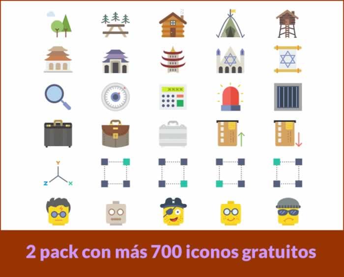 2 Packs con más de 700 iconos para descargar gratis